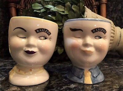 Limited Edition BAILEY'S HIS & HERS WINKING EYE 1997 YUM. Cups PRISTINE ~ RARE!