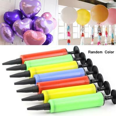 MANUAL BALLOON PUMP Double Action Inflator Air Soccer Ball Birthday Party Blow ぢ