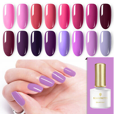 BORN PRETTY 6ml Red UV Gel Nail Polish Pure Color Soak Off Gel Varnish Manicure