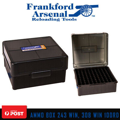 Frankford Arsenal Hinge Lid 100rd Ammo Box Ammunition Case For 243 - 308 win
