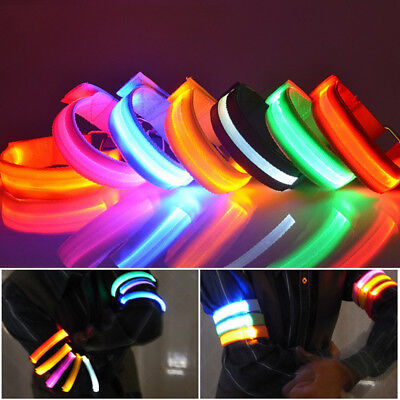 New Rechargeable Luminous LED Bracelet Armband for Sports Safty Cycling Running