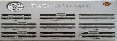 Broadway Limited 7 California Zephyr Cars Paragon Series