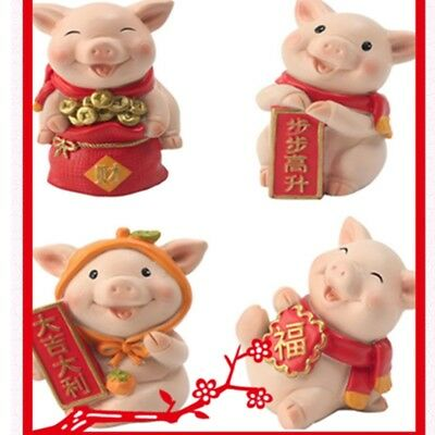 2019 Chinese New Year Pig Year Zodiac Mascot Cartoon Ornament Desktop Decor Gift