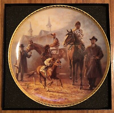 FRED STONE  AMERICAN TRIPLE CROWN 1919-1935 COLLECTOR PLATE with original box