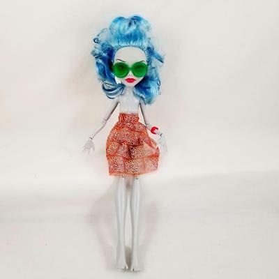 Monster High Skull Shores Ghoulia Yelps Doll w/ Clothes Sunglasses Earring Skirt