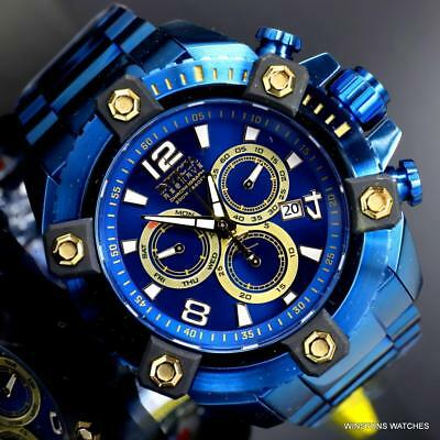 Invicta Reserve Grand Octane Blue Label 63mm Steel Bracelet Swiss Mvt Watch New