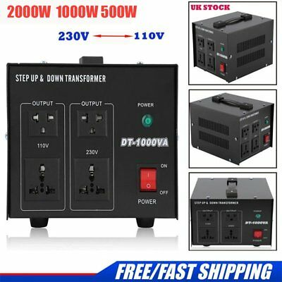 Household  Step Up Down Voltage Transformer Converter 230V-110V 2000W 1KW 500W