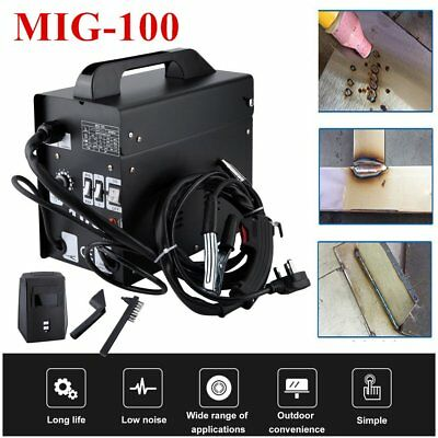 Pro MIG 100 Portable Welder 240v No Gas Welding Gasless 100A 100 Amps