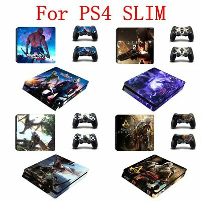 Sticker For PS4 Playstation 4 Slim Console Controller Vinyl Skin Sticker Cover