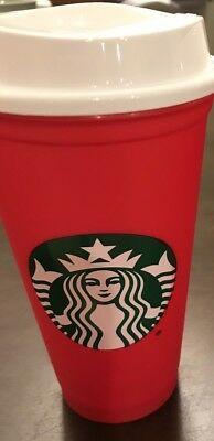NEW Starbucks Red Reusable 16 Oz Christmas Holiday 2018 Cup Hard Find Sold Out