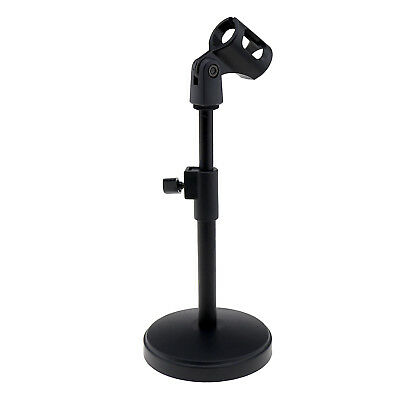 Mic Table Desk Microphone Round Base Stand Mount Holder For Desktop Placement