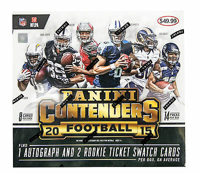 NFL trading card box - 2015 Panini Contenders Football BRAND NEW - Autos! 3 hits