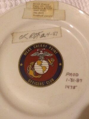 Rare Mcas Cherry Point Officers Club Dinner Plate Shenango China Sample Usmc