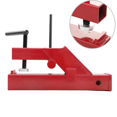"""Red Trailer Hitch clamp 2"""" Ball Mount Receiver Fit for Deere Bobcat Tractor Buck"""