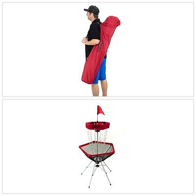 PORTABLE DISC GOLF TARGET Lightweight W Tote Bag Lawn Backyard Games Outdoor NEW
