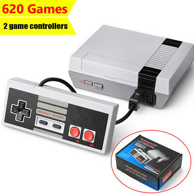 Classic Retro TV Game Console ABS Built-in 620 Games With 2 Game Controllers