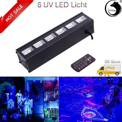 6LED  DMX Bar Stage Lighting UV  Black Light Wall Washer Lamp DJ Disco Party AU