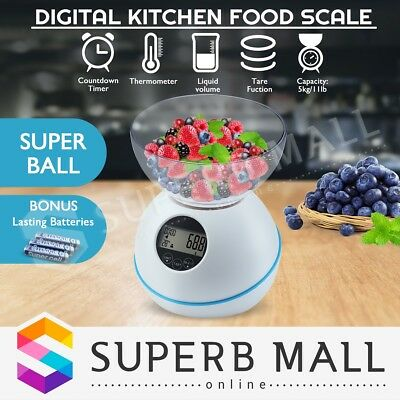 5kg/1g LCD Electronic Digital Kitchen Weight Household Food Cooking Scale New