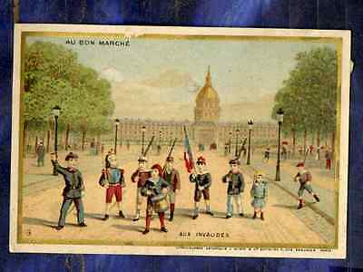Chromo Au BON MARCHE bm160 MINOT PARIS ENFANTS INVALIDES TAMBOUR Drum Children