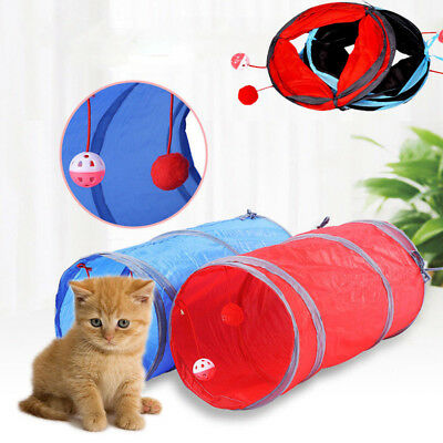 Funny Tunnel Tent Agility Cat Training Folding Pet Agility Play Toys Cat Tunnel