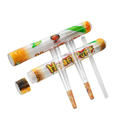HONEYPUFF 1 1/4 Honey Flavored Pre Rolled Cones Clear Non Tobacco Cone 3 Packs