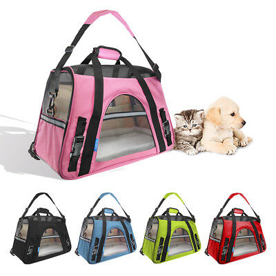Pet Dog Cat Carrier Portable Tote Crate Kennel Travel Carry Bag Backpack AU