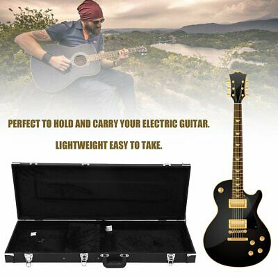 Universal Electric Bass Guitar Hard Case Wooden Shell Lockable Carrying Case
