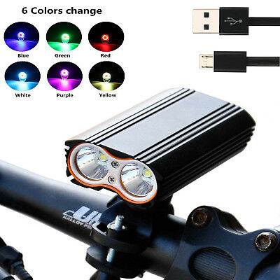 Super Bright MTB Bike Cycling Front Light USB Rechargeable T6 LED Waterproof  KY