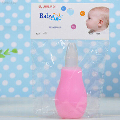 F90F Infant Nasal Aspirator Sucker Silicone Baby Nose Mucus Cleaner Soft Tip