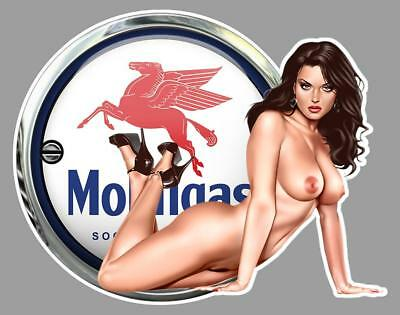 MOBILGAS PIN UP right Sticker droite