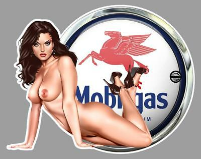 MOBILGAS PIN UP left Sticker gauche