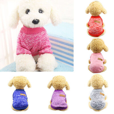 Puppy Soft Pet Dog Sweater Chihuahua Pullover Clothes Pet Outfit Jumper Exotic