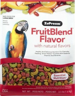 Zupreem Fruitblend Complete Food For Macaws, Cockatoos, Amazons 1.59Kg (3.5.lb)