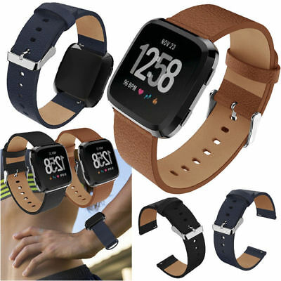 Leather Replace Wristband Watch Band Strap Bracelet for Fitbit Versa 2 Tracker
