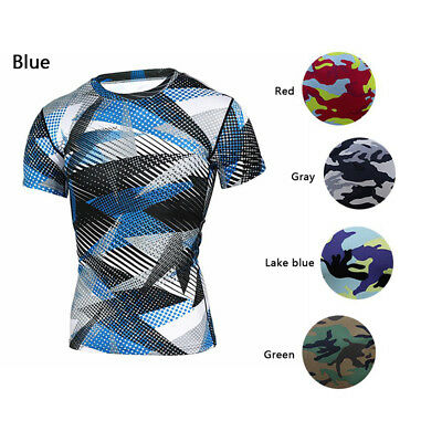Fitness Tights New Compression T-Shirts Quick Dry Men Camouflage