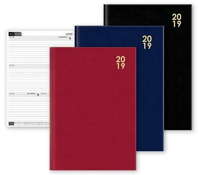 2019 A4/A5/A6 Diary Week to View Desk Diary Hard Backed Diary