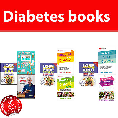 Diabetes diet books collection set  Low Carb Cookbook, Blood Sugar Diet NEW