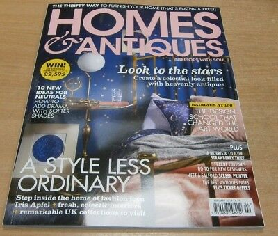 Homes & Antiques magazine Feb 2019 Iris Apfel's home + UK collections to visit