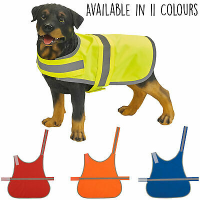 Hi Vis High Viz Visability Reflective Safety Dog Walking Vest Coat Jacket S-L