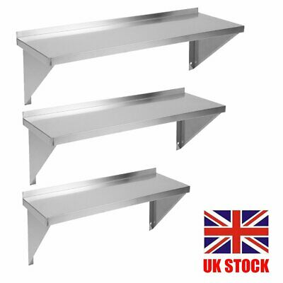 Stainless Steel Shelves Commercial Kitchen Clean Room Wall Shelf Rack 600-1200MM