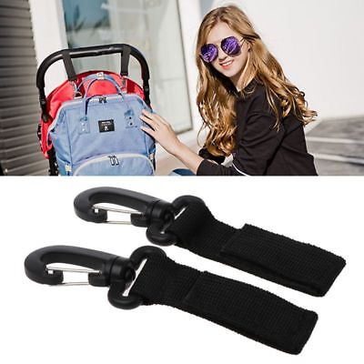 2 PCs Baby Wheelchair Pram Carriage Bag Hanger Hook Clip Stroller Accessories