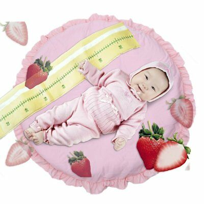 Baby Kids Round Lace Game Gym Activity Play Mat Crawling Rug Blanket Floor Pink