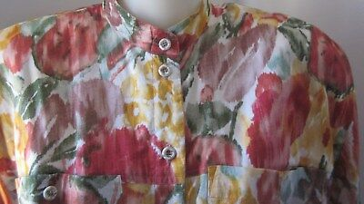 Adele Palmer orig 80,s vintage 2pce suit in cool floral voile.size 10