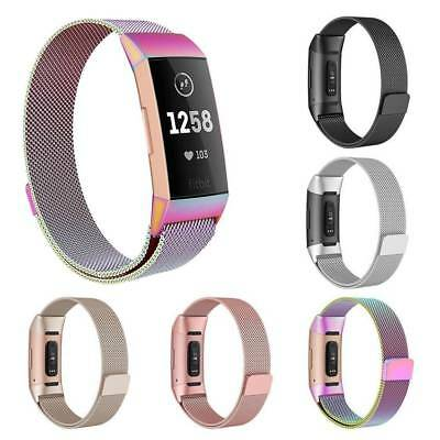 New Stainless Steel Replacement Wristband Watch Strap For Fitbit Charge2/Charge3