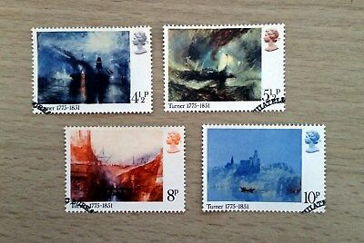 GB QEII Comm. Stamps. 1975 (SG 971-974) JMW Turner (Painter). Set from FDC