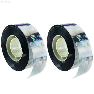 1C25 295ft Visual Audible Emitting Ribbon Holographic Flash Bird Scare Tape 90M