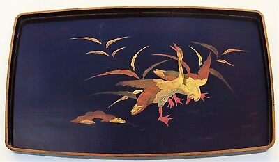 Antique Japanese Lacquer Tray Meiji Period