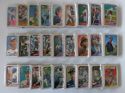 1989 Topps Baseball Card Team Set - Pick Your Team From Drop Down Menu