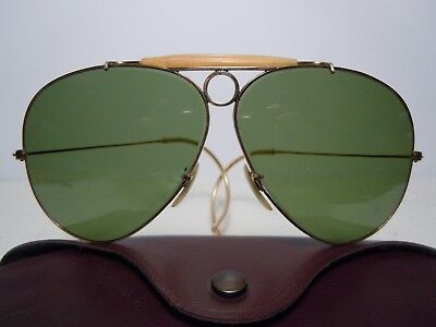 4da29f05ed3 RAY BAN SHOOTER Vintage 70 s Cal. 62 1 30 10K GO Lenses RB2 By B L ...
