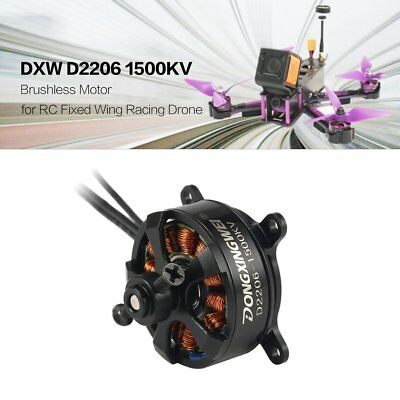 DXW D2206 1500KV 2-3S Brushless Motor for RC Fixed Wing Airplane Aircraft V+